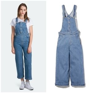 Levi's Mile High Wide Leg Overalls in Stoned Out
